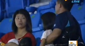 Girl Dropped For Foul Ball