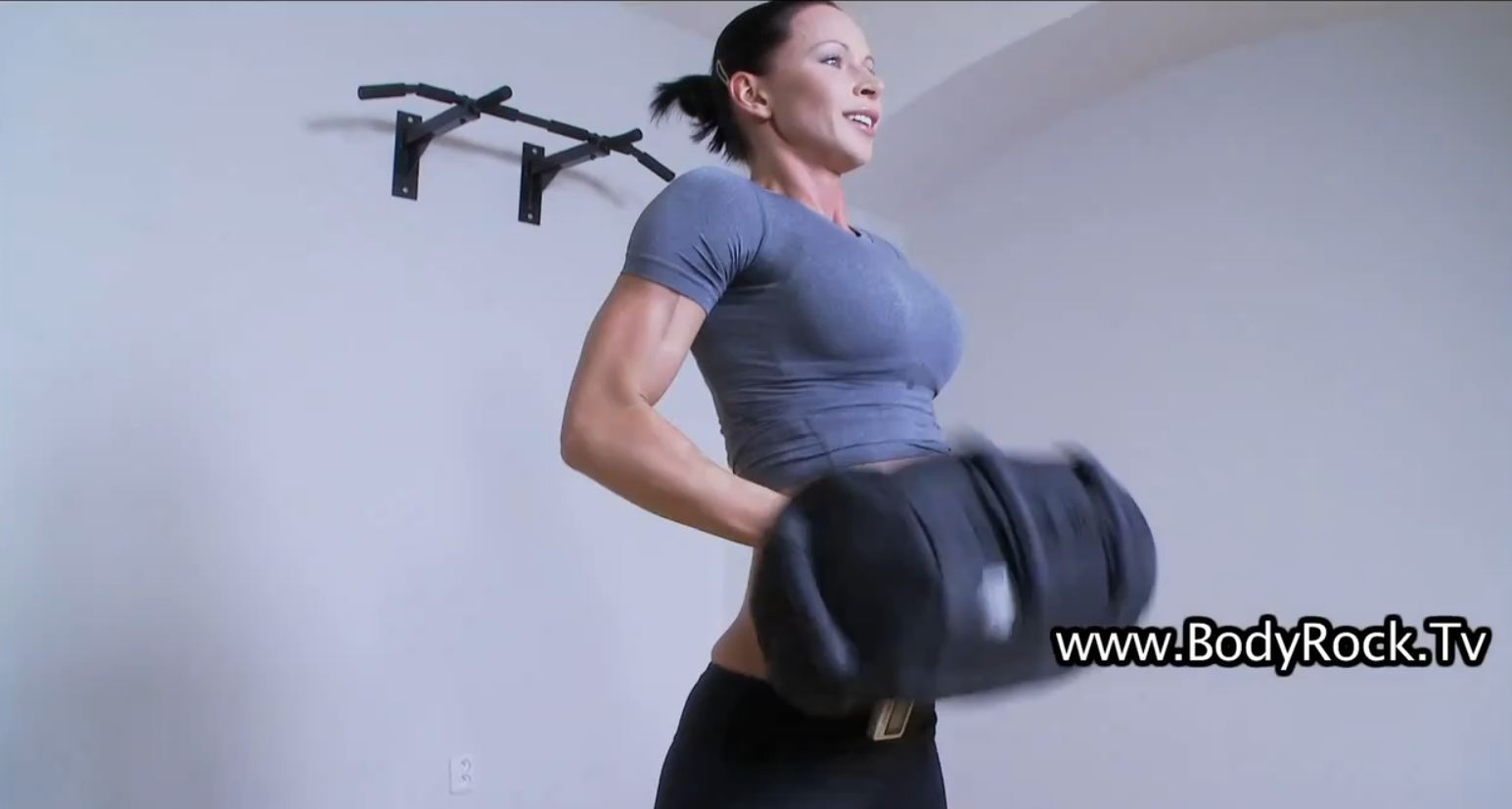 push me workout and hosting call from zuzana of bodyrock tv